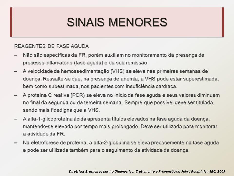 SINAIS MENORES REAGENTES DE FASE AGUDA