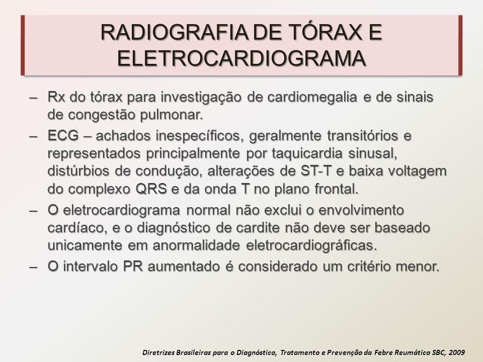 RADIOGRAFIA DE TÓRAX E ELETROCARDIOGRAMA