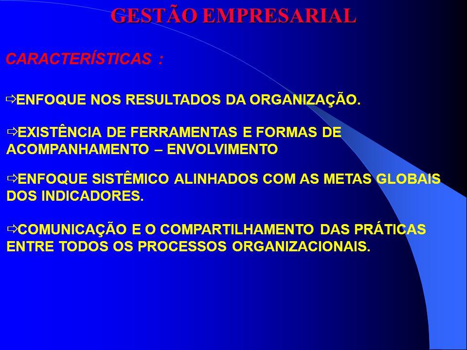 GESTÃO EMPRESARIAL CARACTERÍSTICAS :