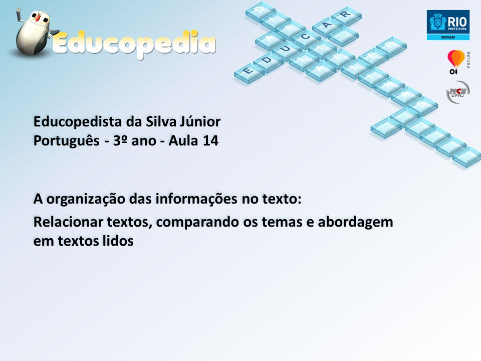 Educopedista da Silva Júnior Português - 3º ano - Aula 14