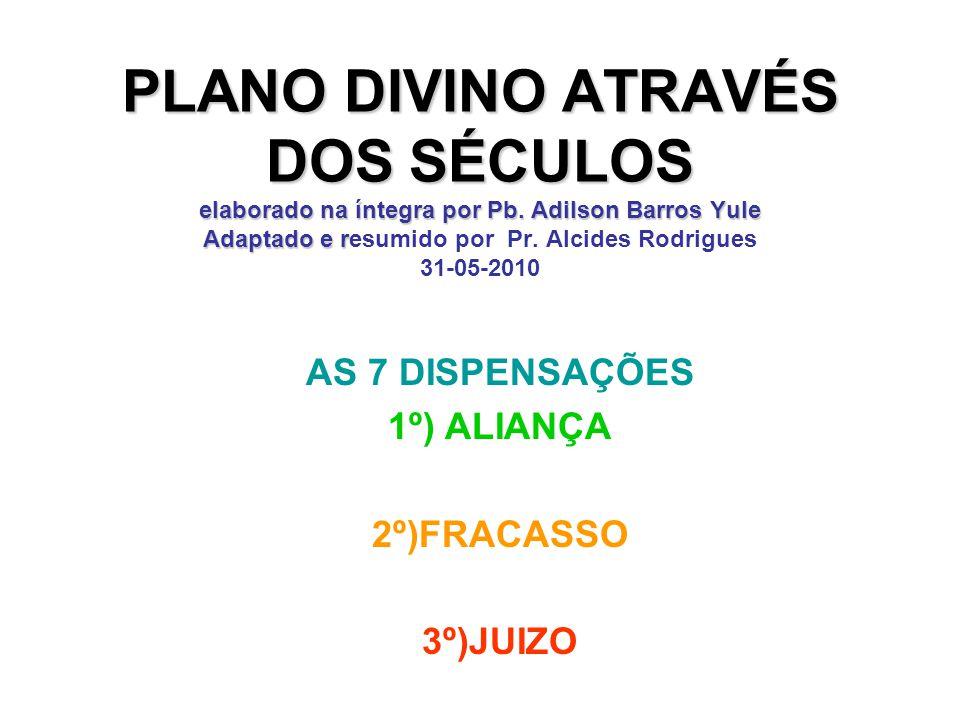 AS 7 DISPENSAÇÕES 1º) ALIANÇA 2º)FRACASSO 3º)JUIZO