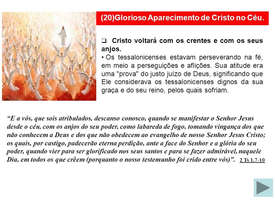 (20)Glorioso Aparecimento de Cristo no Céu.