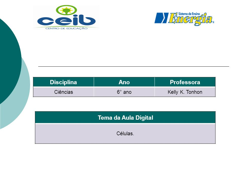 Disciplina Ano Professora Tema da Aula Digital