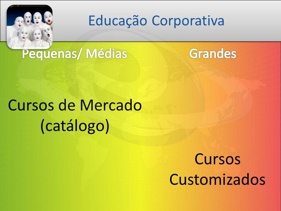 Cursos de Mercado (catálogo) Cursos Customizados Educação Corporativa