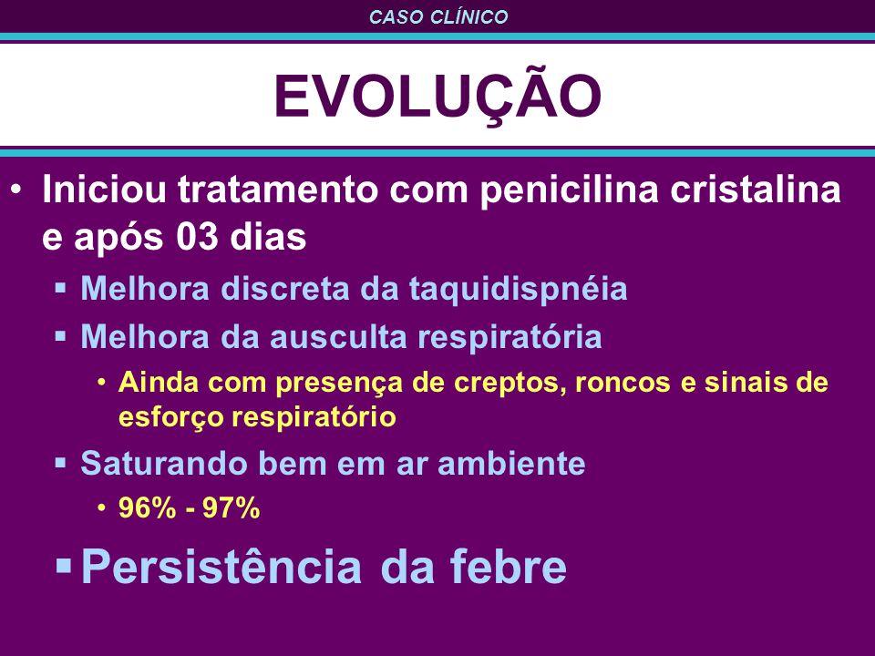 EVOLUÇÃO Persistência da febre
