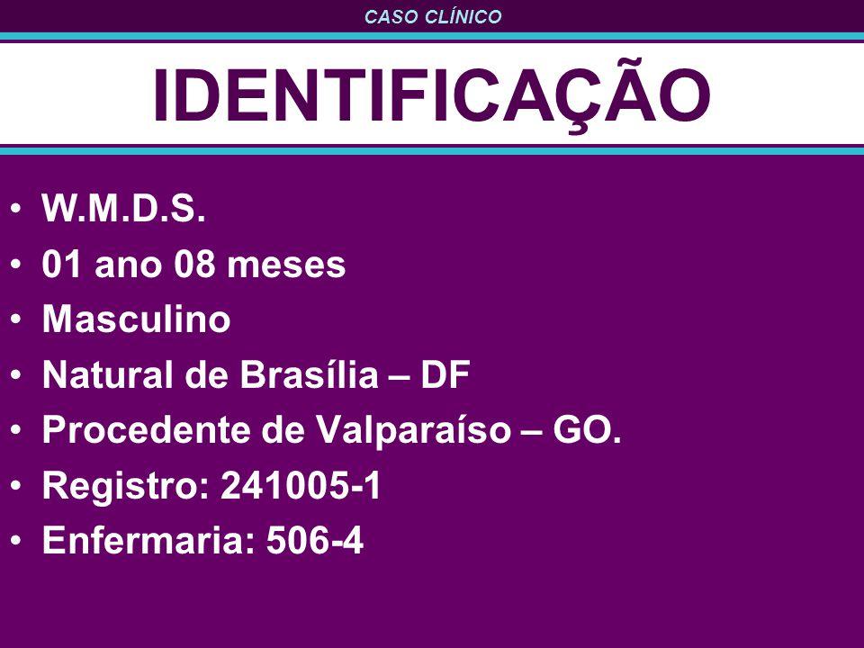 IDENTIFICAÇÃO W.M.D.S. 01 ano 08 meses Masculino
