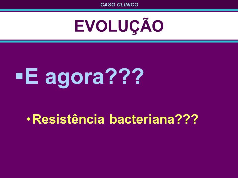 EVOLUÇÃO E agora Resistência bacteriana