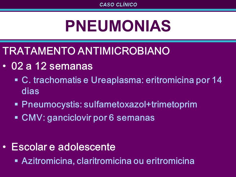 PNEUMONIAS TRATAMENTO ANTIMICROBIANO 02 a 12 semanas