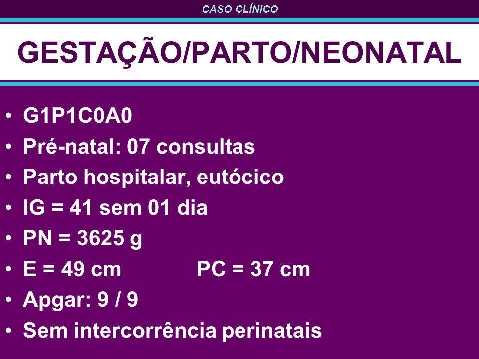 GESTAÇÃO/PARTO/NEONATAL