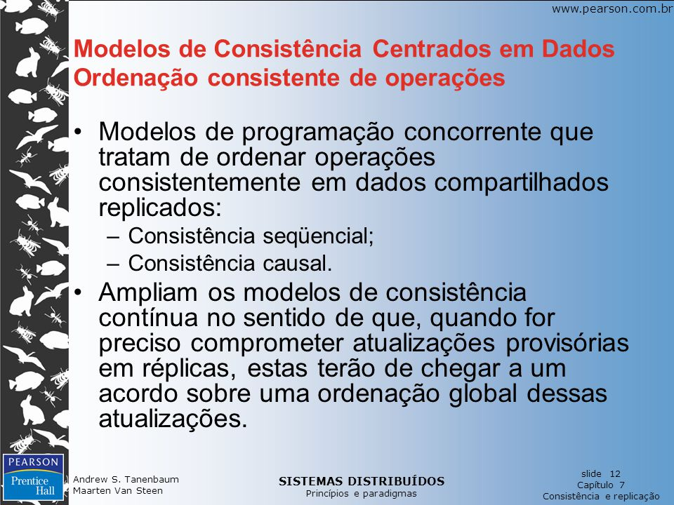 Modelos de Consistência Centrados em Dados Ordenação consistente de operações