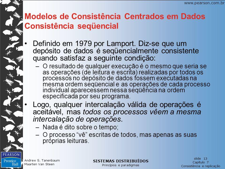 Modelos de Consistência Centrados em Dados Consistência seqüencial