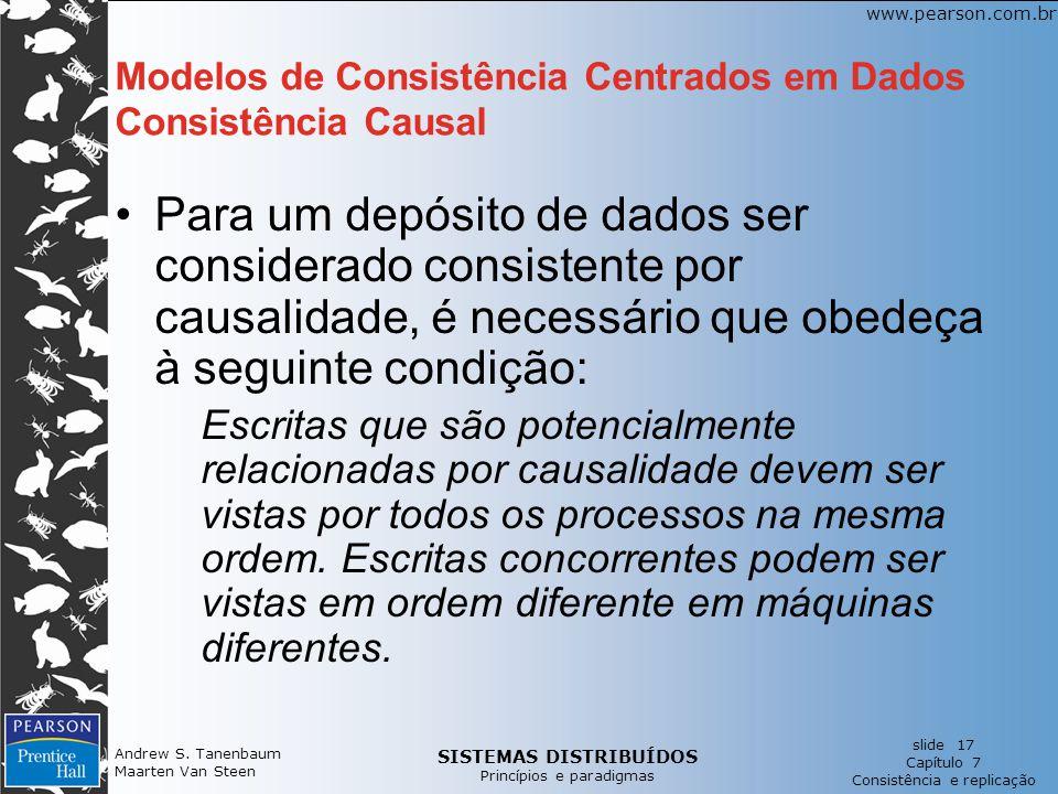 Modelos de Consistência Centrados em Dados Consistência Causal