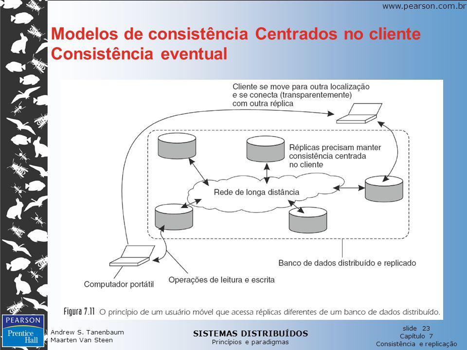 Modelos de consistência Centrados no cliente Consistência eventual