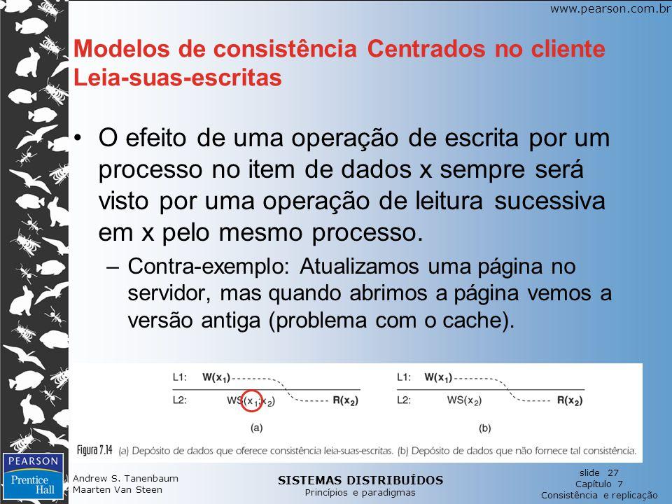 Modelos de consistência Centrados no cliente Leia-suas-escritas