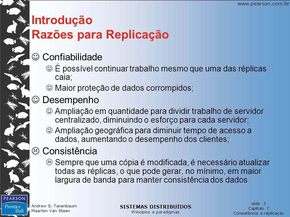 Introdução Razões para Replicação