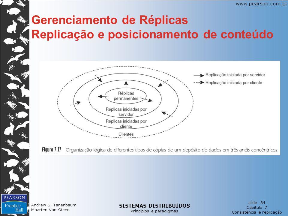 Gerenciamento de Réplicas Replicação e posicionamento de conteúdo