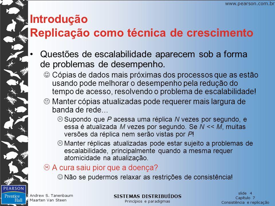 Introdução Replicação como técnica de crescimento