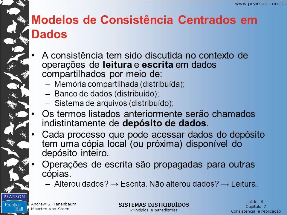 Modelos de Consistência Centrados em Dados