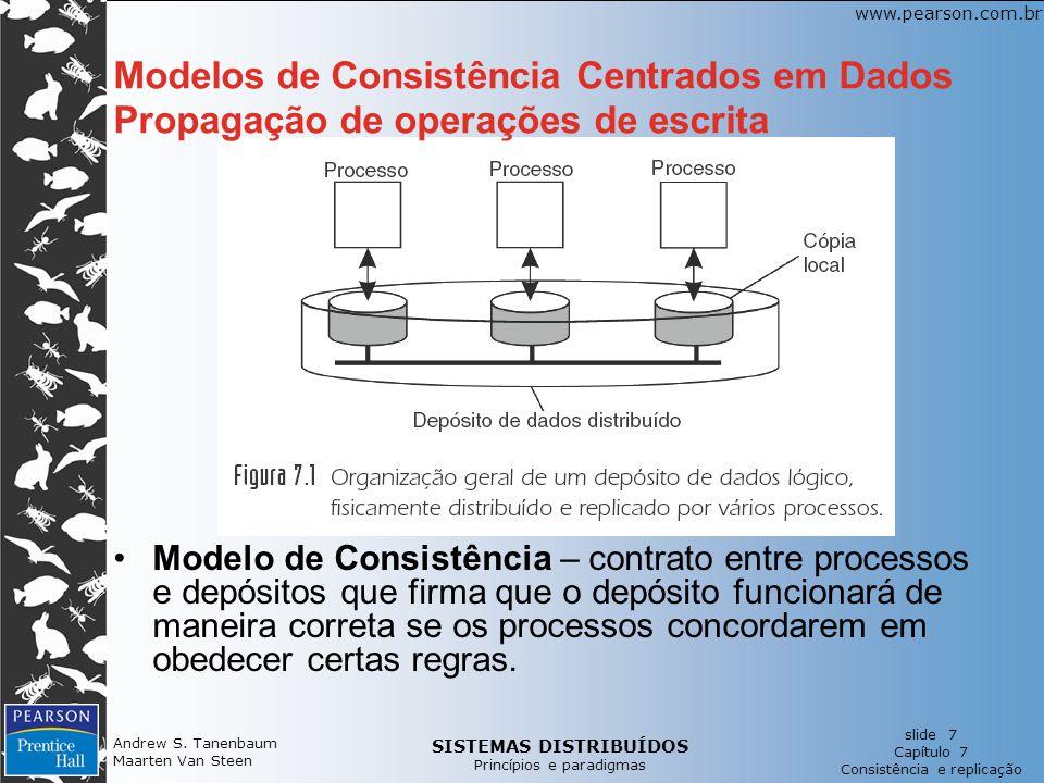 Modelos de Consistência Centrados em Dados Propagação de operações de escrita