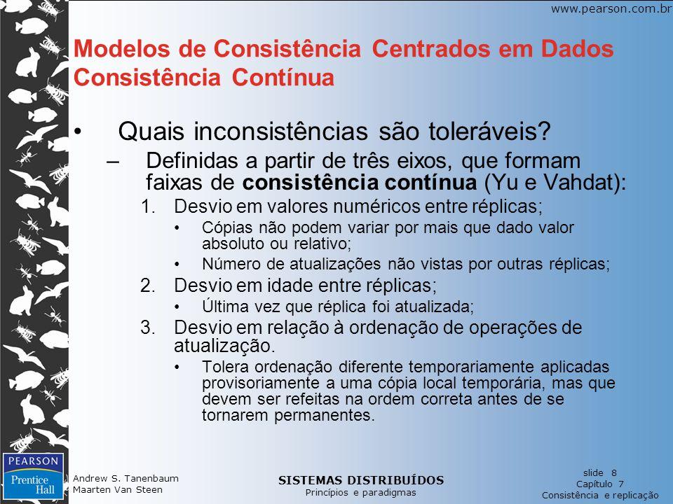 Modelos de Consistência Centrados em Dados Consistência Contínua