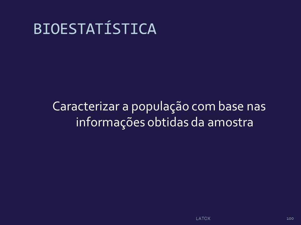 Caracterizar a população com base nas informações obtidas da amostra