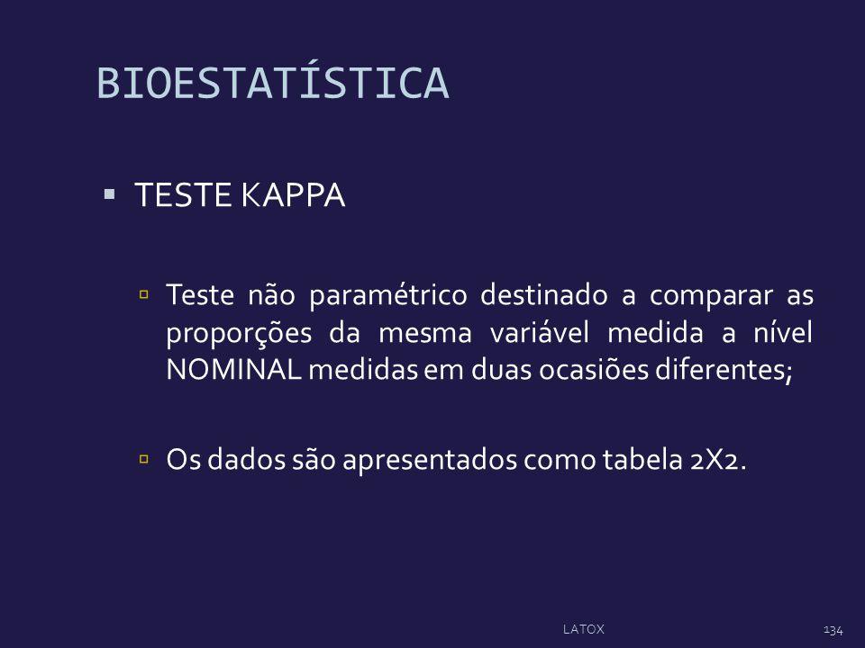 BIOESTATÍSTICA TESTE KAPPA