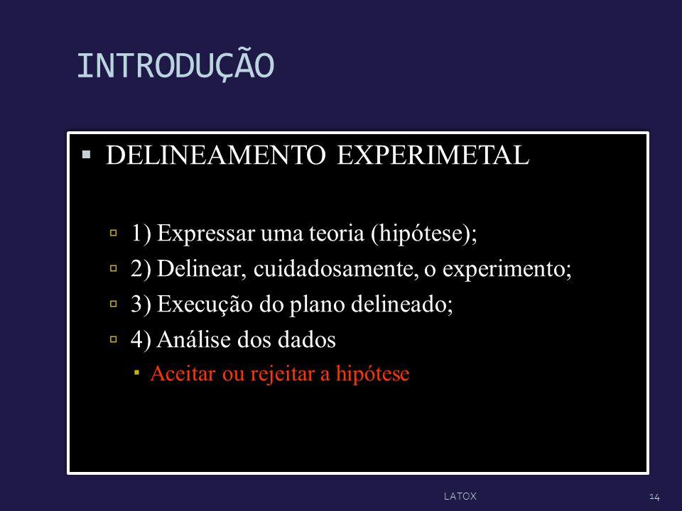 INTRODUÇÃO DELINEAMENTO EXPERIMETAL