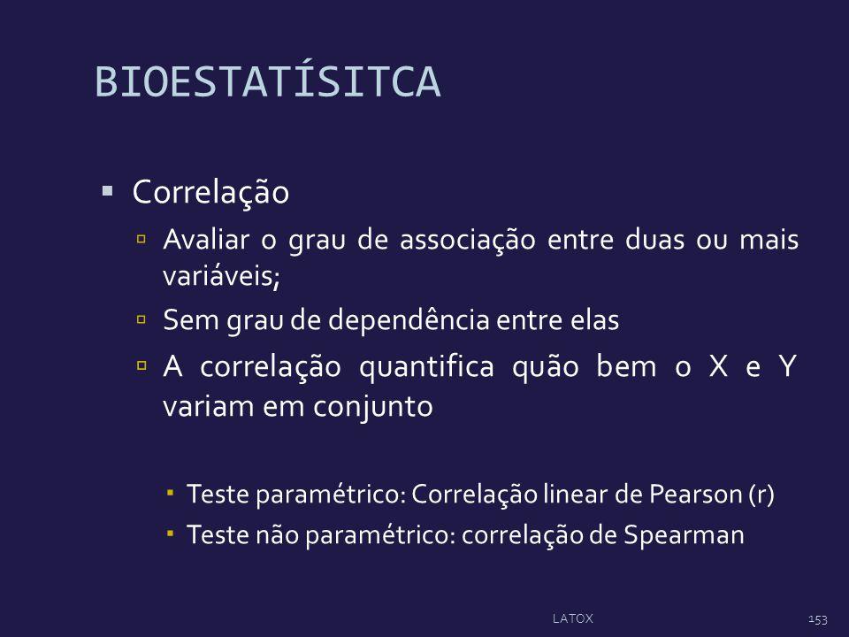 BIOESTATÍSITCA Correlação