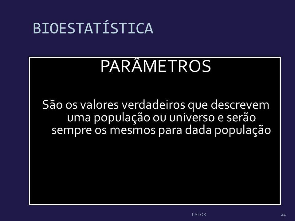 PARÂMETROS BIOESTATÍSTICA