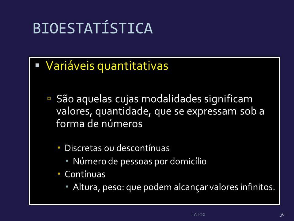 BIOESTATÍSTICA Variáveis quantitativas