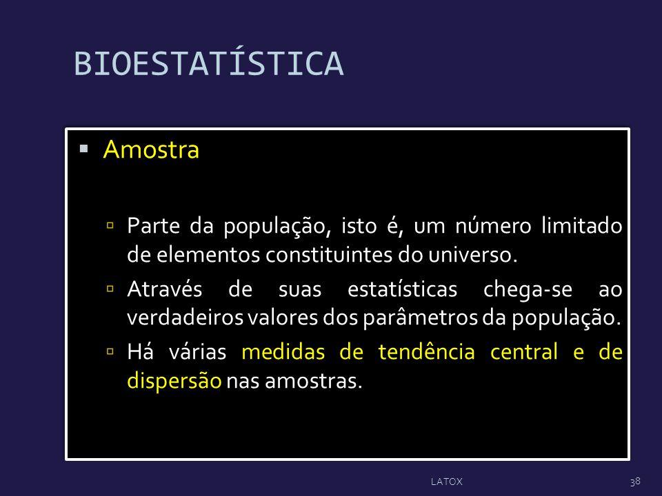 BIOESTATÍSTICA Amostra
