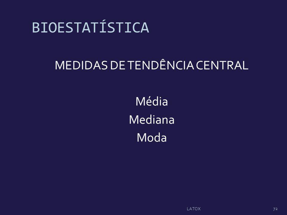 MEDIDAS DE TENDÊNCIA CENTRAL Média Mediana Moda