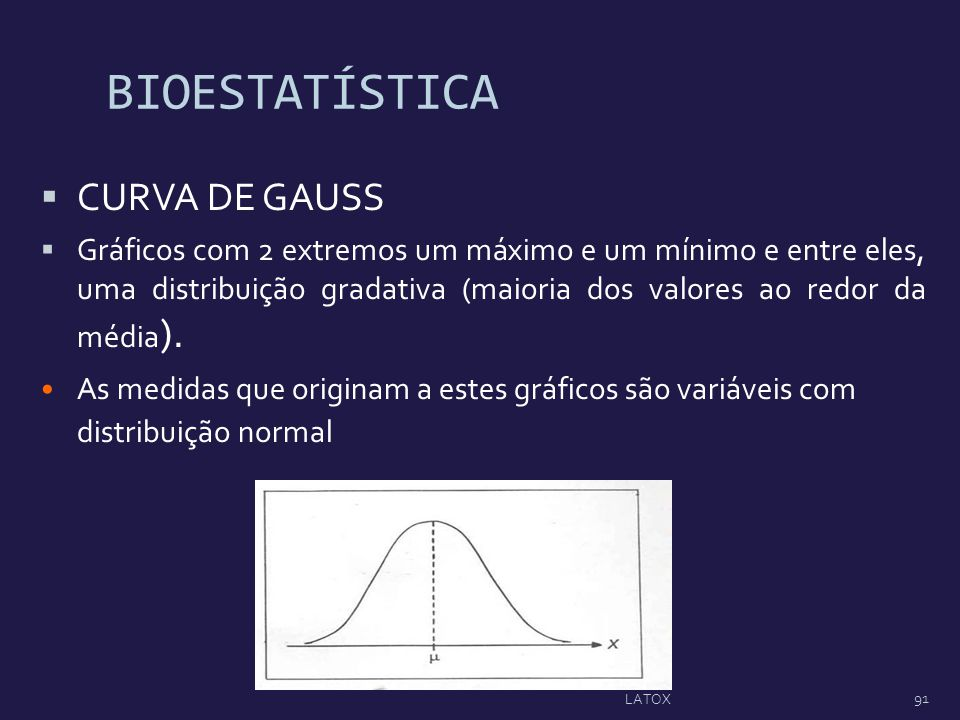 BIOESTATÍSTICA CURVA DE GAUSS
