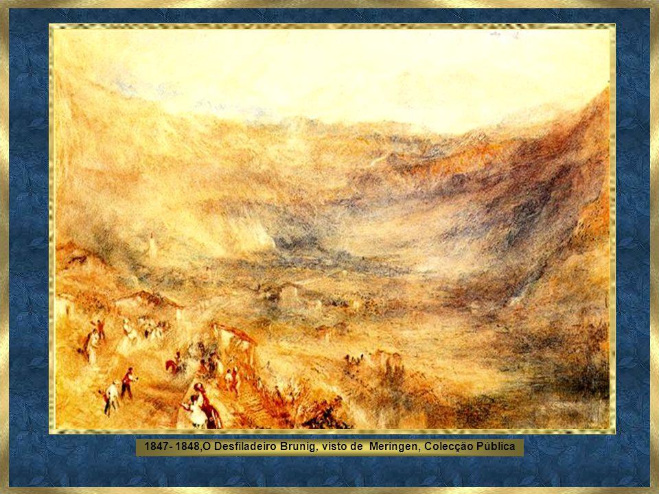 1847- 1848,O Desfiladeiro Brunig, visto de Meringen, Colecção Pública