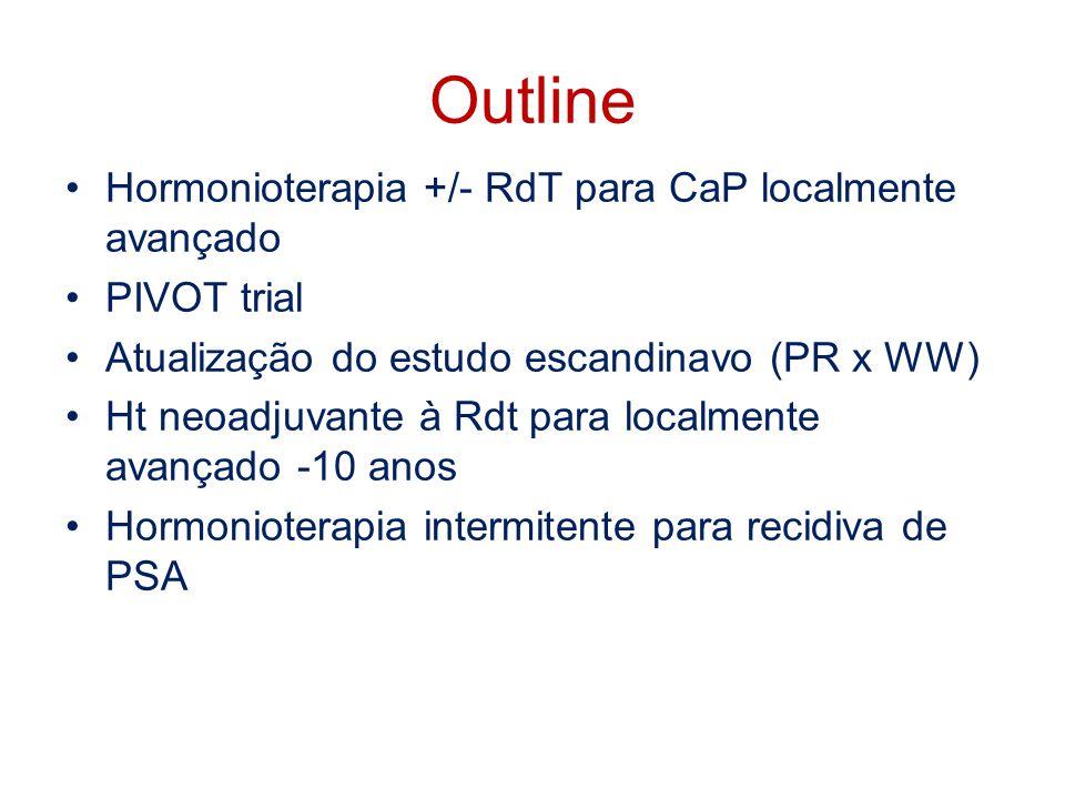 Outline Hormonioterapia +/- RdT para CaP localmente avançado