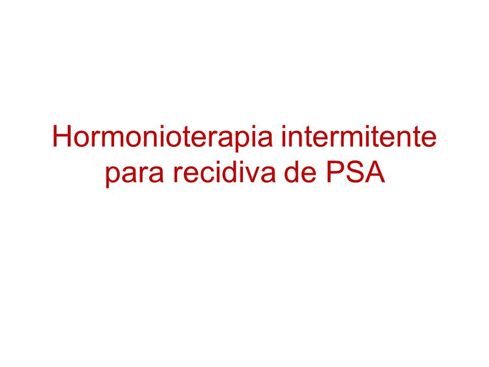 Hormonioterapia intermitente para recidiva de PSA