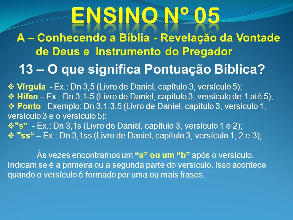 13 – O que significa Pontuação Bíblica