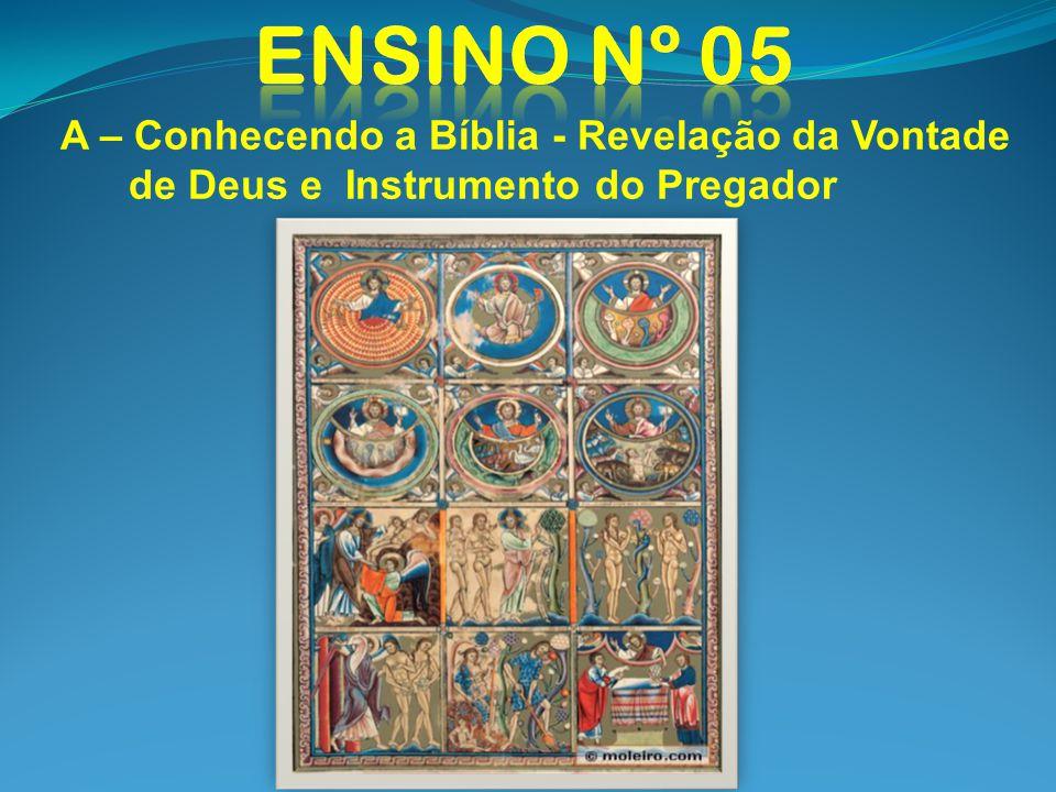 Ensino nº 05 A – Conhecendo a Bíblia - Revelação da Vontade