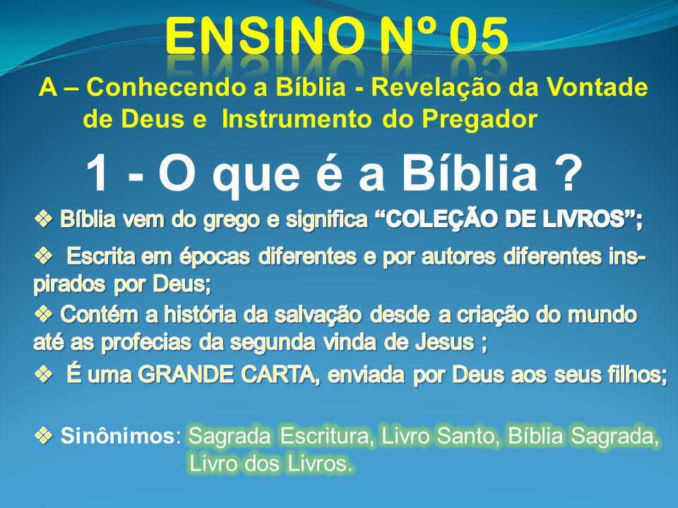 Ensino nº 05 1 - O que é a Bíblia