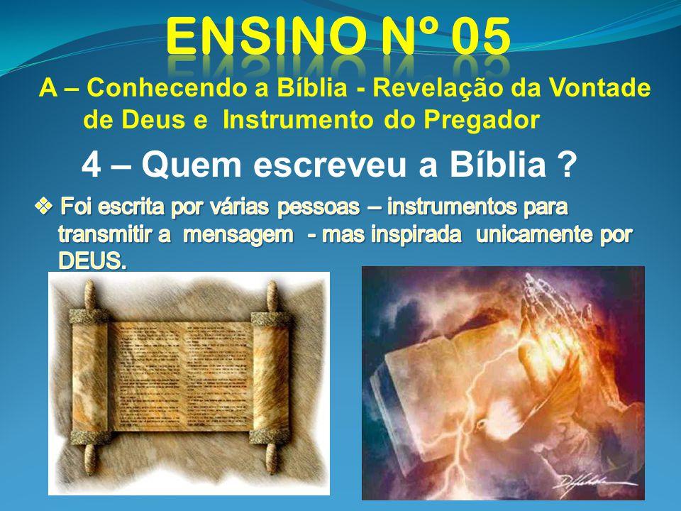 4 – Quem escreveu a Bíblia