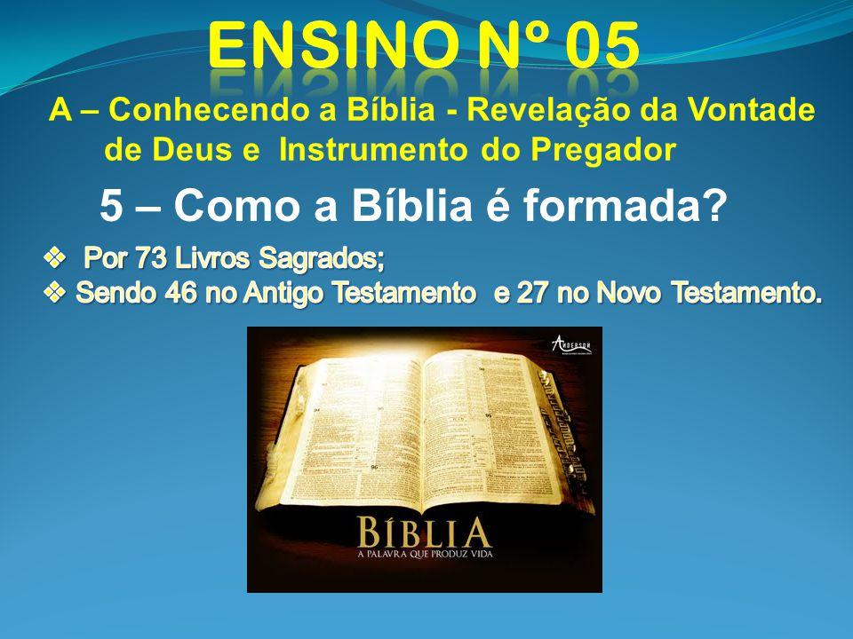 5 – Como a Bíblia é formada