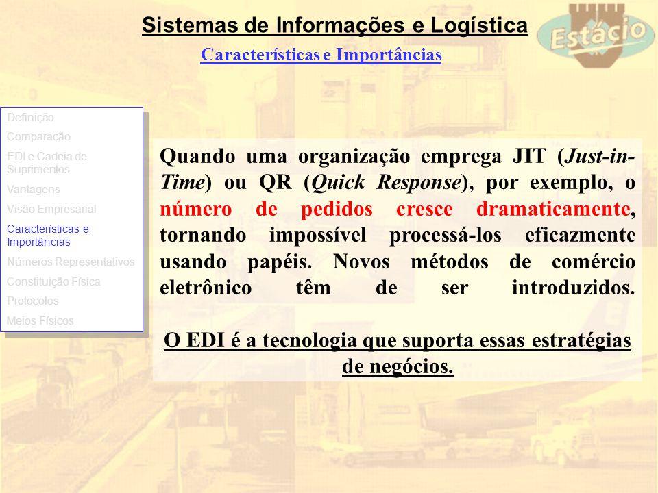 O EDI é a tecnologia que suporta essas estratégias de negócios.