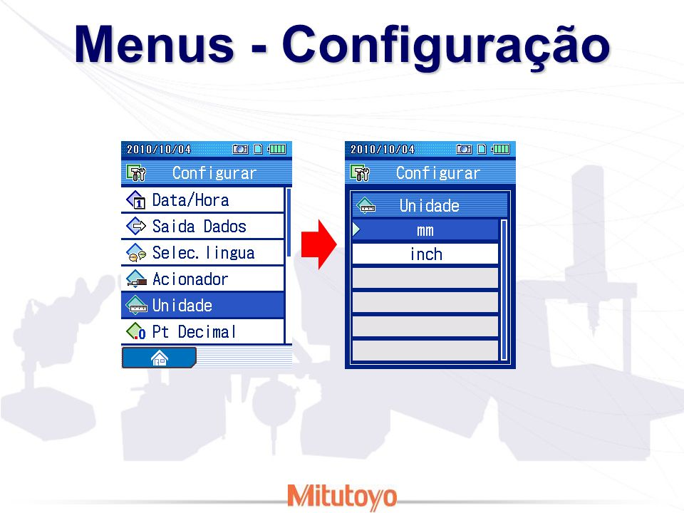 Menus - Configuração