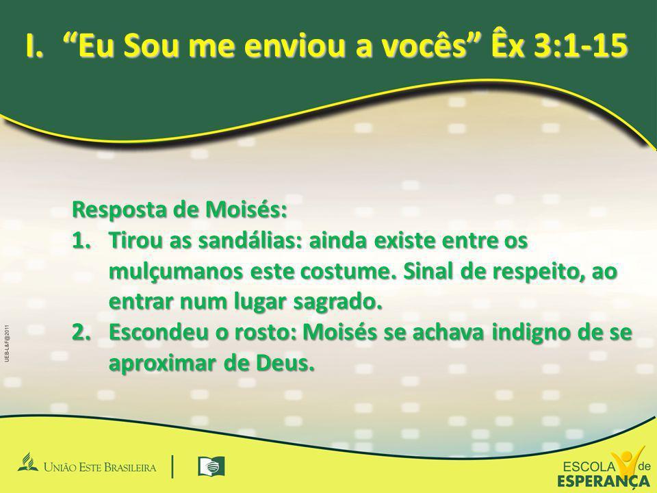 Eu Sou me enviou a vocês Êx 3:1-15