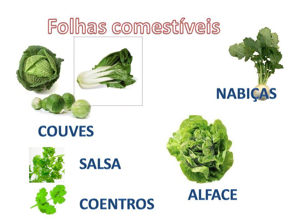 Folhas comestíveis nabiças couves Salsa coentros alface
