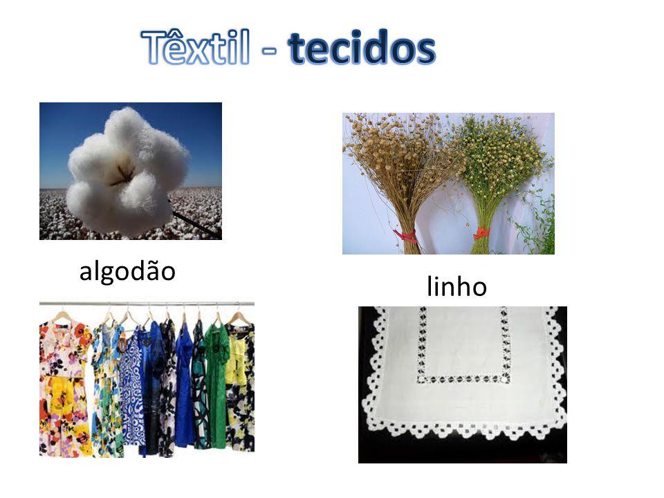Têxtil - tecidos algodão linho