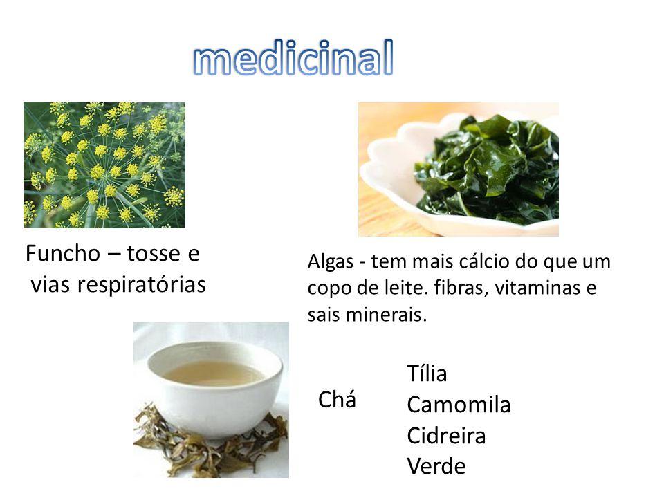 medicinal Funcho – tosse e vias respiratórias Tília Camomila Chá