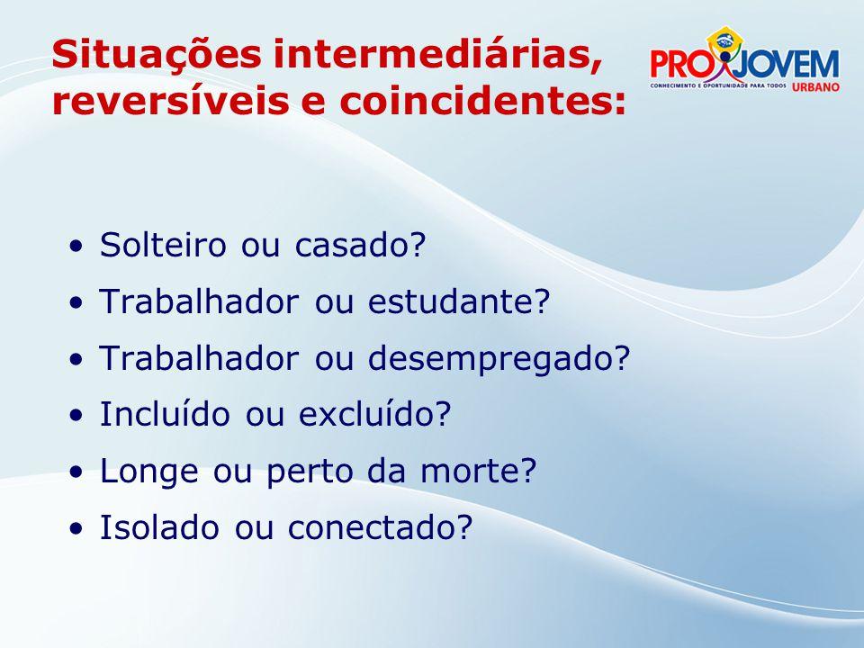 Situações intermediárias, reversíveis e coincidentes: