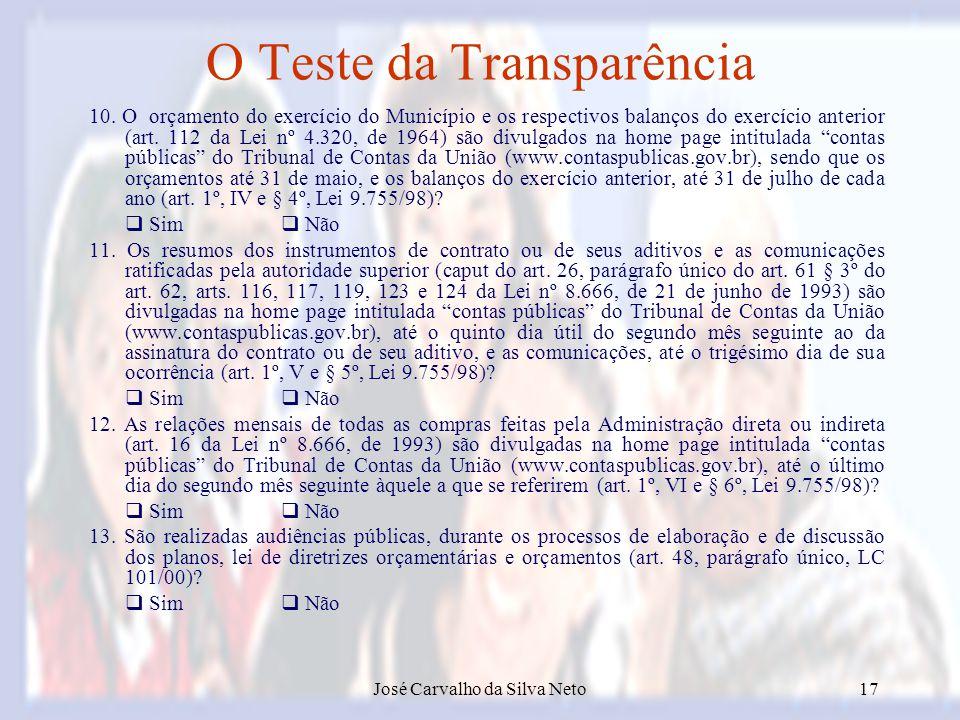 O Teste da Transparência
