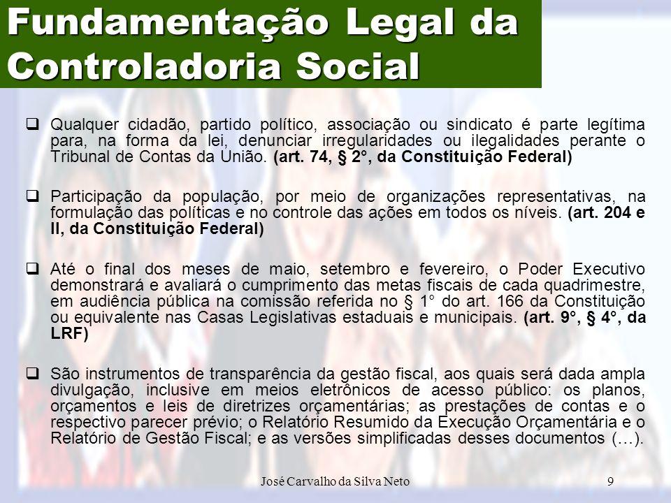 Fundamentação Legal da Controladoria Social